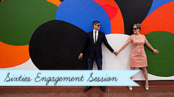 Sixties Vintage Engagement Session